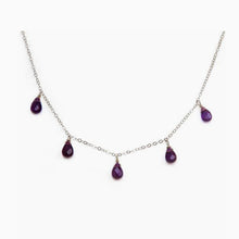 Petite Amethyst Drop Necklace