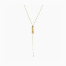 3 Disc Lariat Necklace