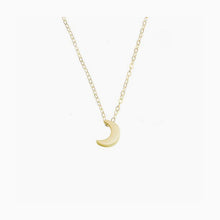 Tiny Half Moon Necklace