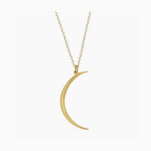 Smooth Modern Crescent Moon Necklace