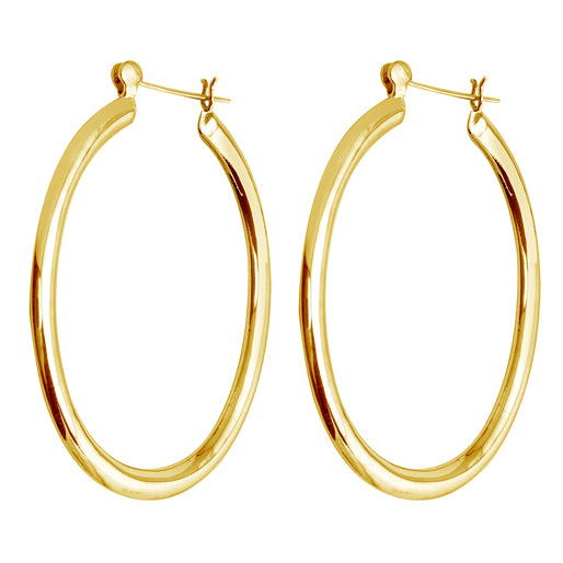 Large Oval Tube Hoops