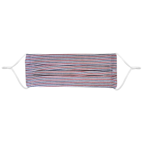 Red and Navy Stripe Seersucker Cotton