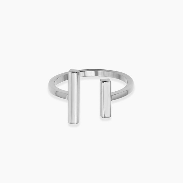 Modern Two Bar Ring