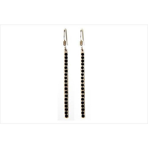 Jet Stone Bar Earring