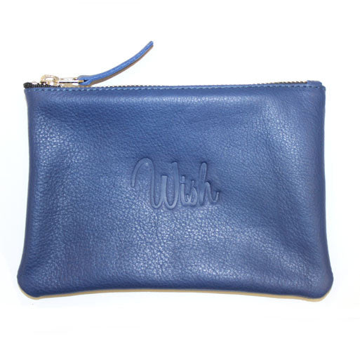 Wish Embossed Pouch