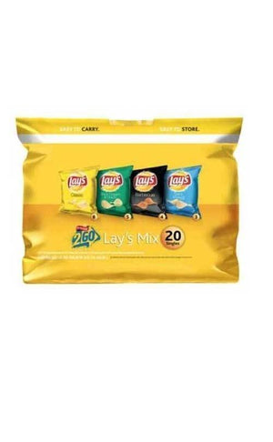 Lay's Mix Potato Chips Variety Pack 20ct - Wilson Inmate Package Program