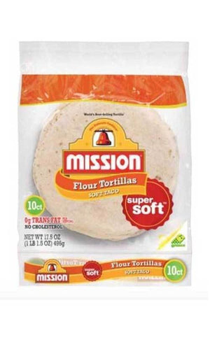 Mission Foods Super Soft Flour Tortillas 10ct - State Shops California