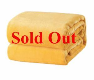 Flannel Fleece Fire Retardant Blanket (Yellow) - Wilson Inmate Package Program