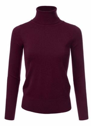 Basic Long Sleeve Soft Turtle Neck
