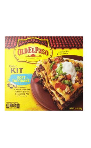 OLD EL PASO SOFT TACO BAKE DINNER KIT, 8.4oz - California Inmate Care Package