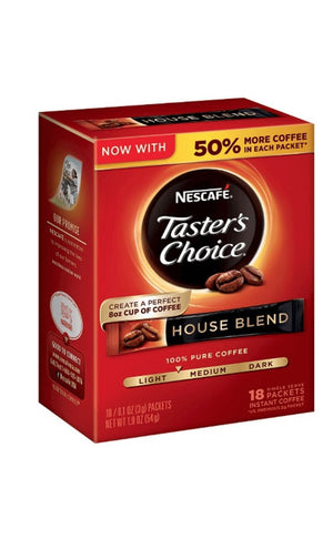 Nescafe Taster's Choice Instant House Blend 16ct - California Inmate Care Package