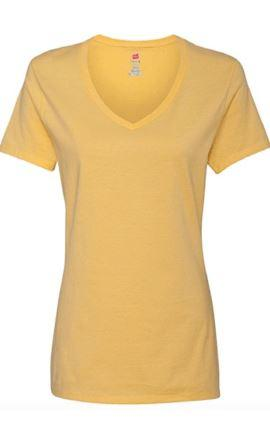 Hanes Ladies Nano V-Neck T-Shirt - Wilson Inmate Package Program