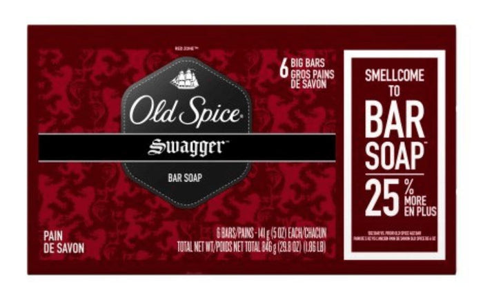 Old Spice Red Zone Mens Bar Soap 6 Bars