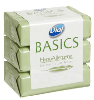 Dial Basics HypoAllergenic Soap, 3ct - Wilson Inmate Package Program