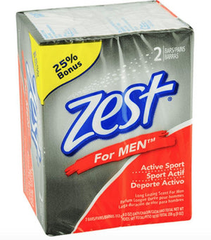 Zest for Men Active Sport Soap, 2-Bar - Wilson Inmate Package Program
