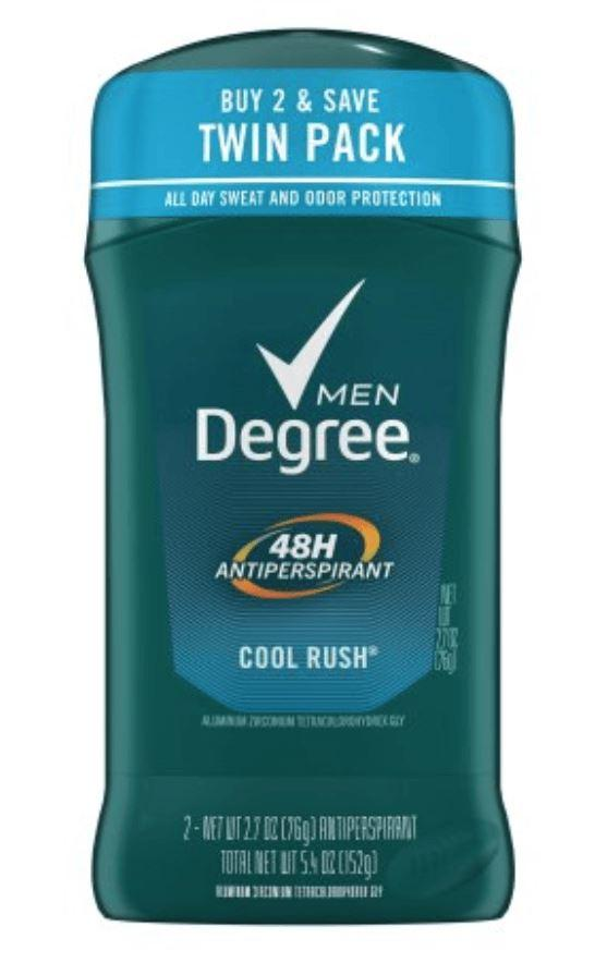 Degree Men Deodorant Invisible Solid 2.7 oz Twin Pack