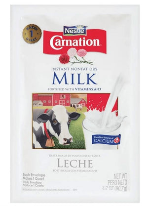 Carnation Instant Nonfat Dry Milk Pouch 3.2oz - Wilson Inmate Package Program