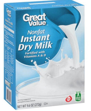 Great Value Nonfat Instant Dry Milk, 3.2 oz - Wilson Inmate Package Program