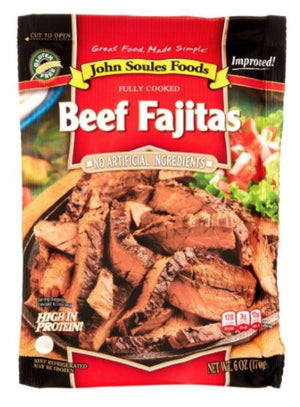 John Soules Beef Fajitas Strips 8oz - Wilson Inmate Package Program