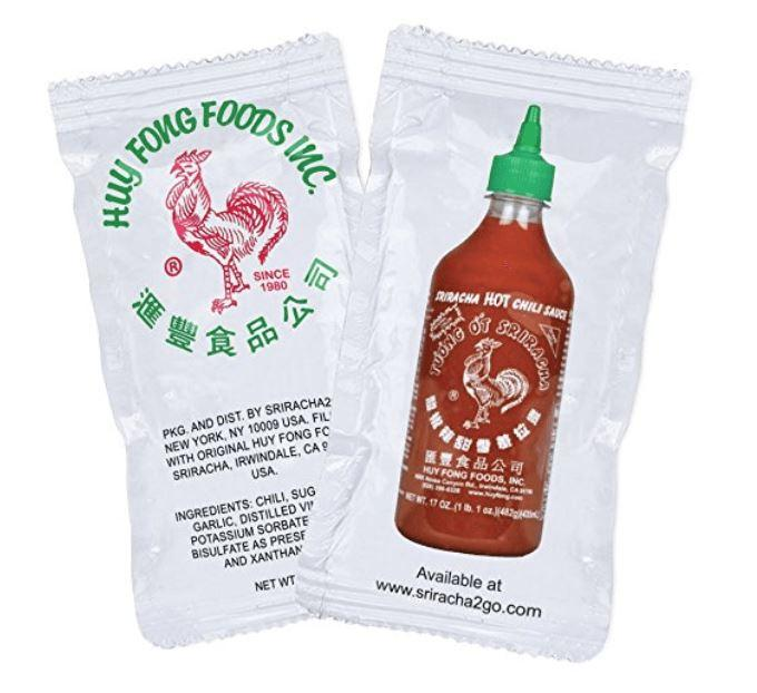 Sriracha Hot Sauce Packets (50-Pack)