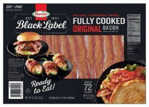 Hormel Black Label Fully Cooked Bacon 72ct - Wilson Inmate Package Program