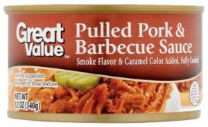 Great Value Pulled Pork & Barbecue Sauce - Wilson Inmate Package Program