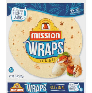 Mission Wraps 6ct 15oz