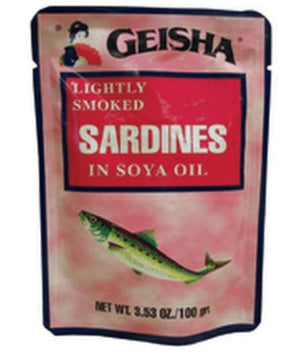 Geisha Sardines in Soy Oil – Pouch 6pk - Wilson Inmate Package Program