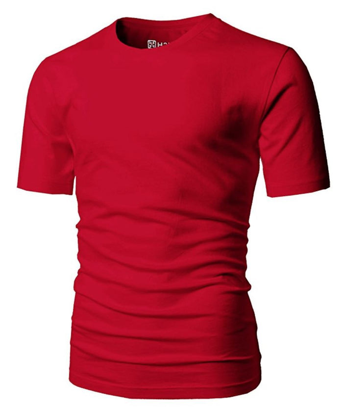 Mens Casual Premium Soft Cotton Short Sleeve T-Shirts of
