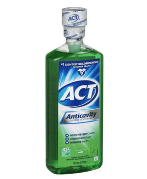 ACT Mint Anticavity Flouride Mouthwash, 18 oz. - Wilson Inmate Package Program