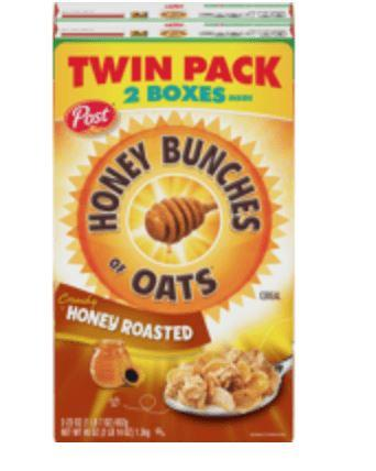 Honey Bunches Of Oats Cereal  2pk