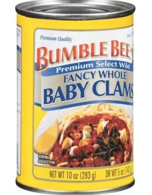 Bumble Bee Whole Baby Clams, 10oz - Wilson Inmate Package Program