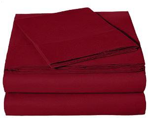 Microfiber Sheet Set - Twin (Burgundy)
