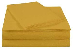 Ultra Soft microfiber solid sheet set Twin (Spicy Mustard)