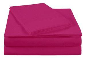 Ultra Soft microfiber solid sheet set, Twin XL, (Pink Yarow)