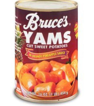 Bruce's Cut Sweet Potatoes Yams 16 oz - Wilson Inmate Package Program