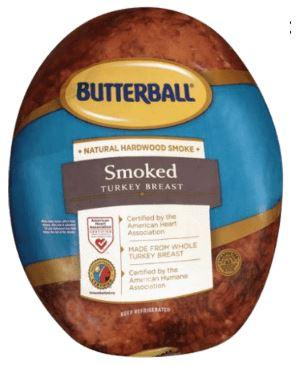 Butterball Smoked Turkey Breast, 5-6lbs