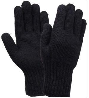 100% WOOL GLOVES- ALL NATURAL FIBERS (Black)