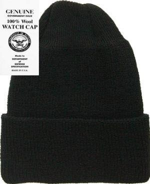 100% Wool Hat- All Natural Fibers (Black)
