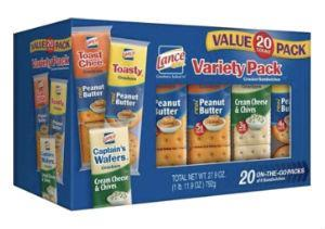 Lance Sandwich Crackers Variety Pack of ToastChee, 20 Ct