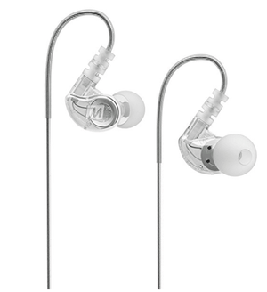 M6 Memory Wire In-Ear Wired Sport Headphones (Clear)