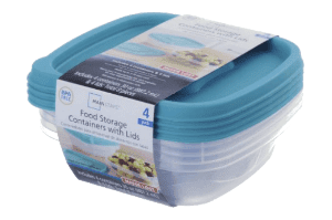 30 Oz Food Storage Containers with Lids, 4 count (Blue)