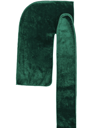 "Premium Velvet Durag ""Coconut Oil Treated"" w/Long Strap (Green)"