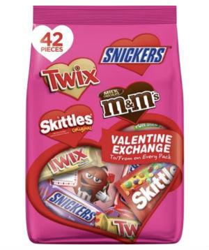 Valentine's Day Exchange Bag - 42ct, 23.79oz