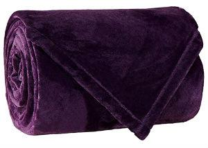 Flannel Fleece Fire Retardant Blanket (Purple)