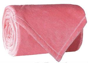 Flannel Fleece Fire Retardant Blanket (Pink)