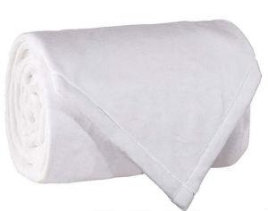 VelvetLoft™ Fleece Blanket Fire Retardant (Ivory Color)-(Twin)