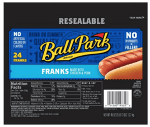 Ball Park Franks 24 ct. (45 oz.)