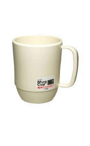 PLASTIC MICROWAVABLE WATER MUG 12OZ WHITE - California Inmate Care Package