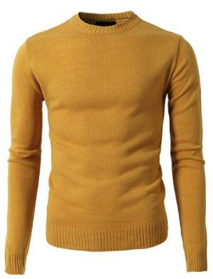 Slim Fit Sweaters Scoop-Neck Sweater